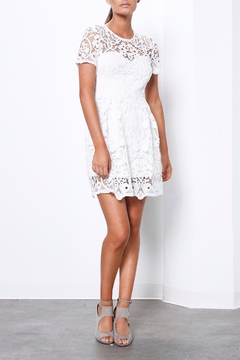 Shilla White Lace Mini Dress - Product List Image