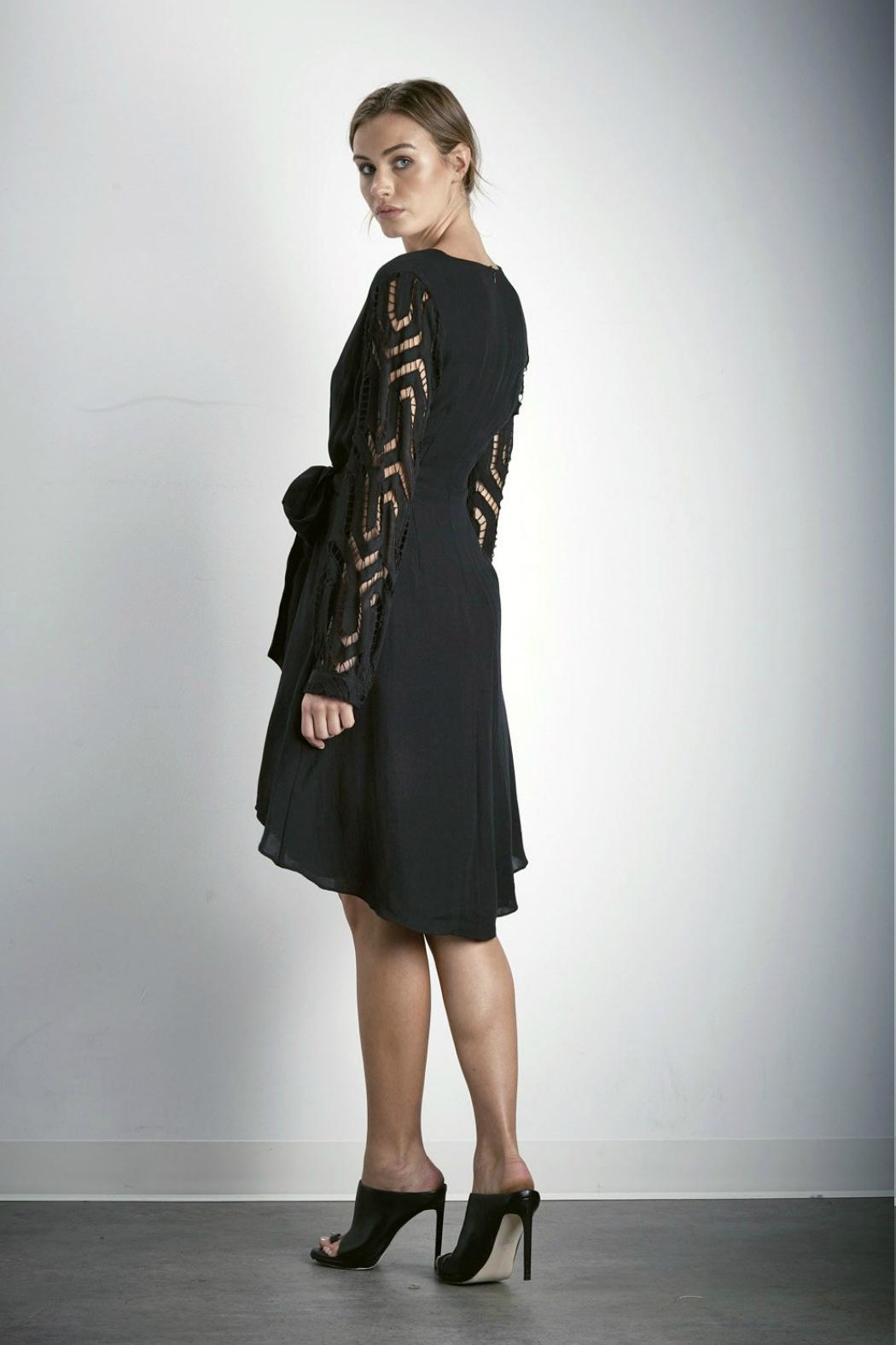 SHILLA THE LABEL Contrast Sleeve Dress - Front Full Image