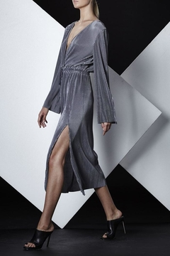 Shoptiques Product: Grey Pleated Dress