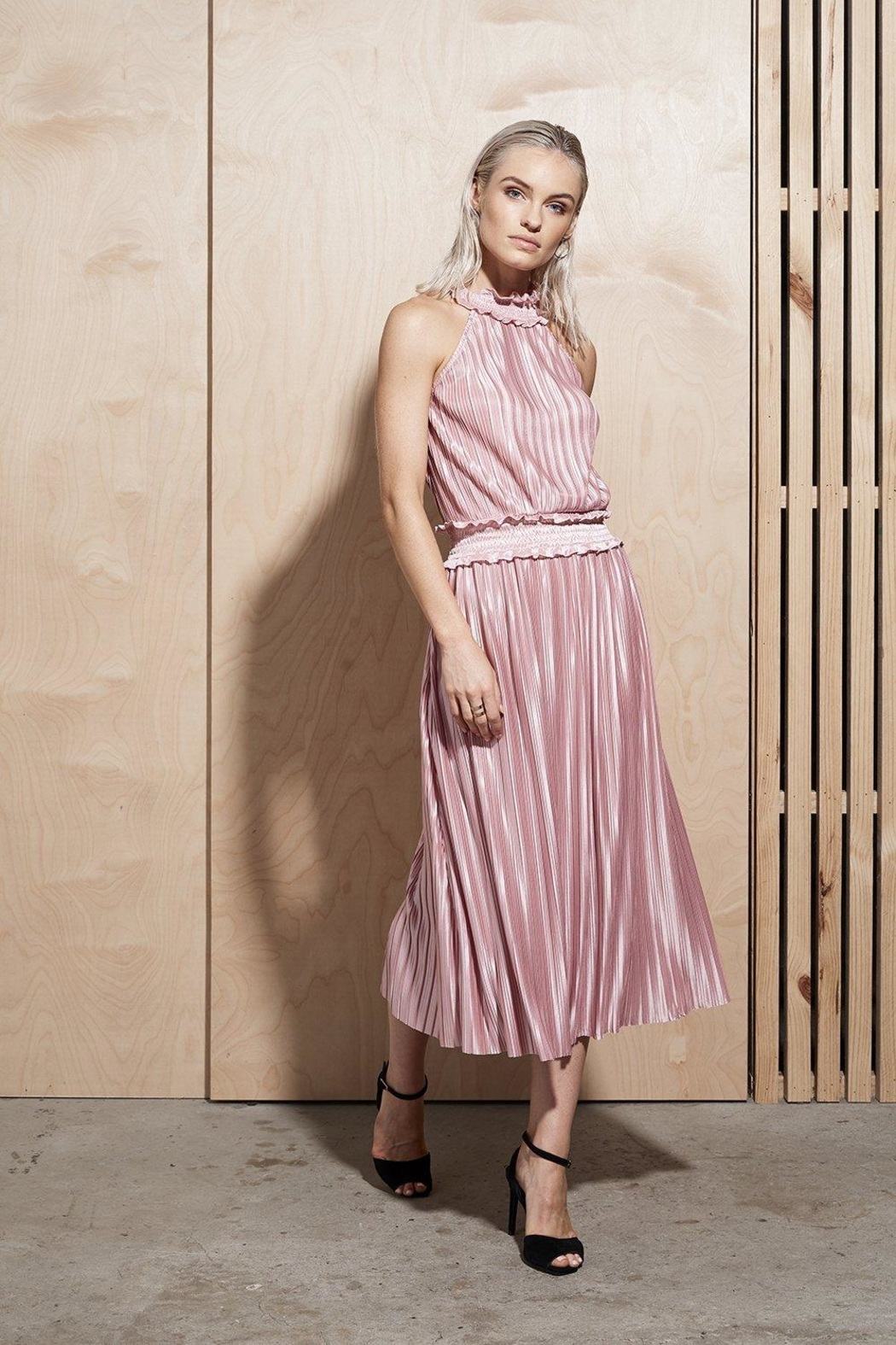 SHILLA THE LABEL Illume Pleat Long - Front Cropped Image