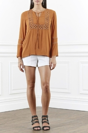 SHILLA THE LABEL Lace Trim Top - Front cropped