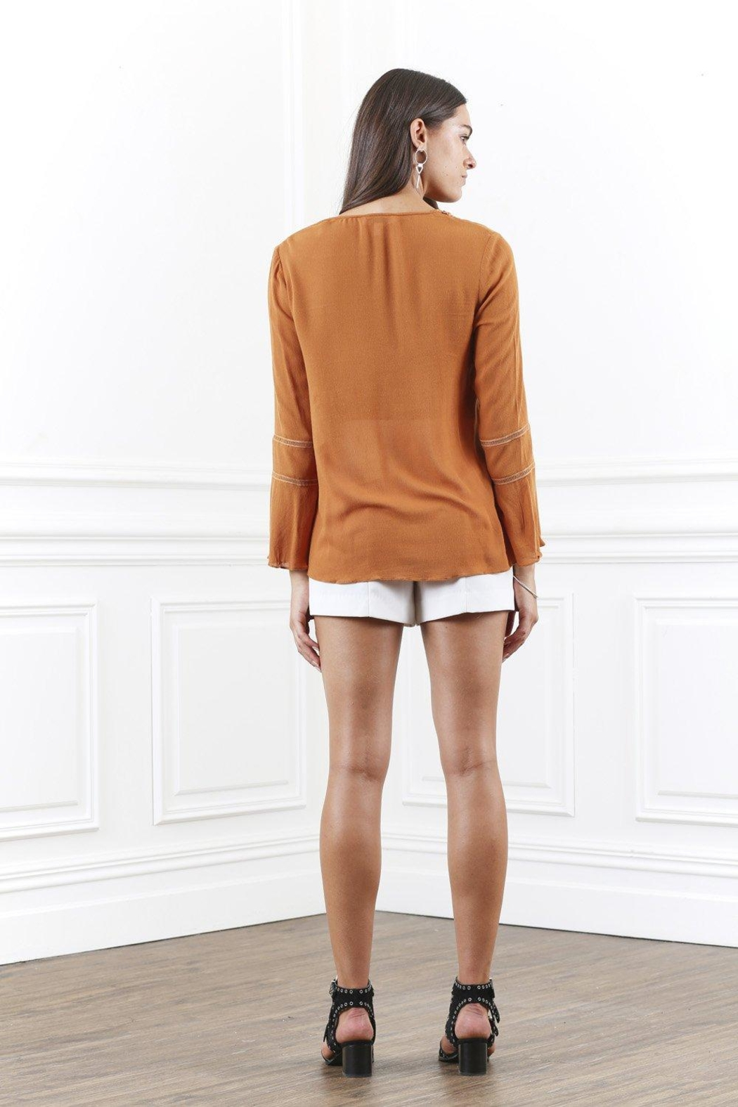 SHILLA THE LABEL Lace Trim Top - Front Full Image