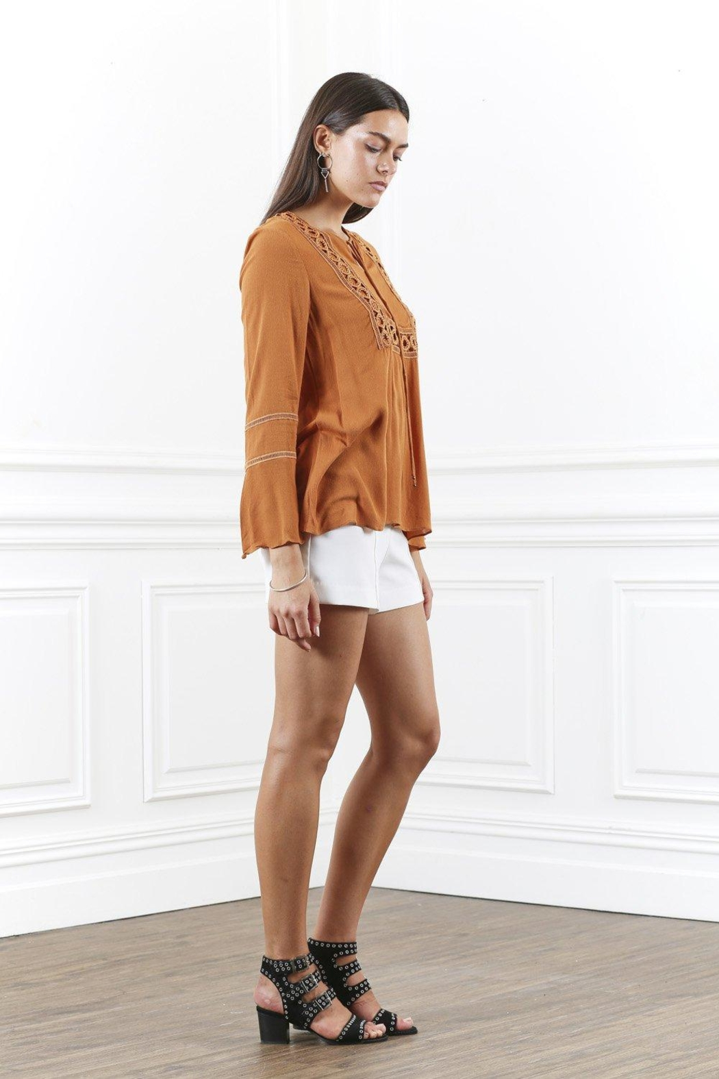 SHILLA THE LABEL Lace Trim Top - Side Cropped Image
