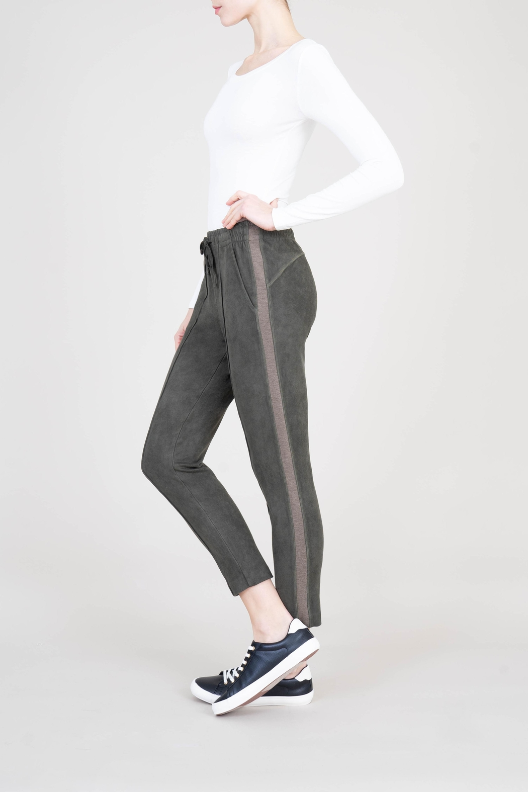 Level 99 Shiloh Faux Suede Jogger - Side Cropped Image