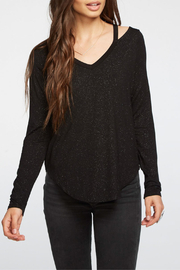 Chaser Shimmer Jersey L/S Vented Shoulder Top - Product Mini Image