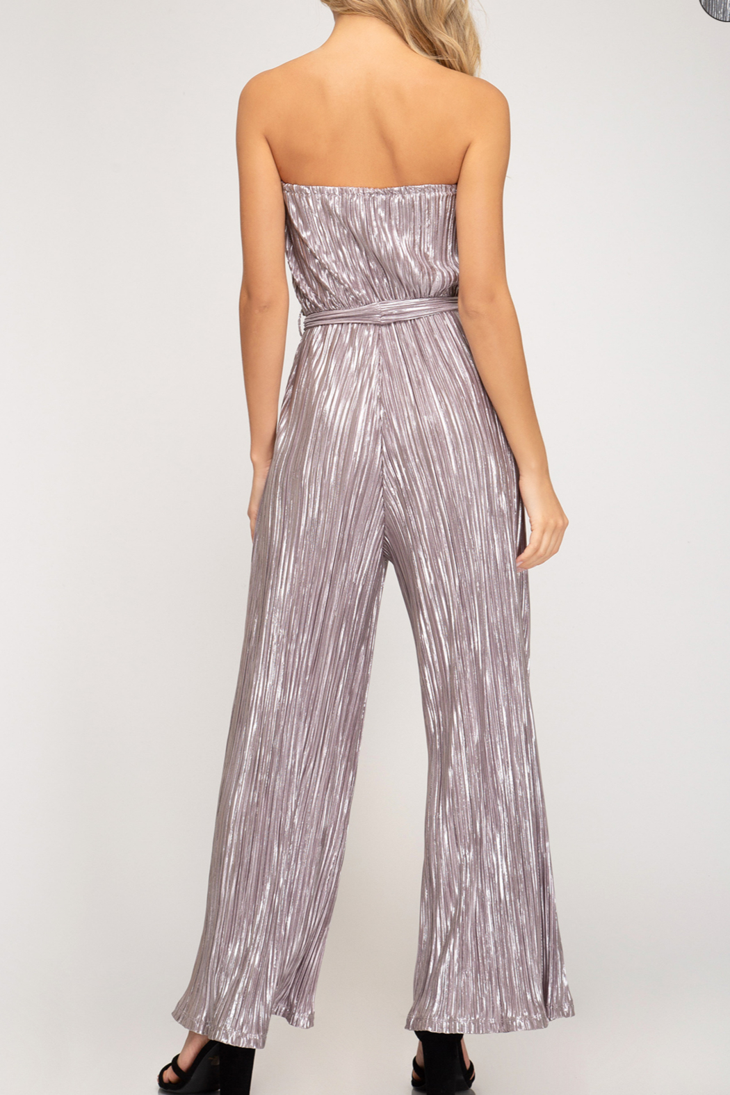 She + Sky Shimmer On Jumpsuit - Front Full Image