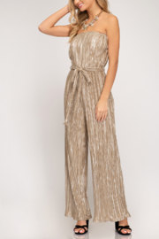 She + Sky Shimmer On Jumpsuit - Front cropped