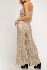 She + Sky Shimmer On Jumpsuit - Front full body