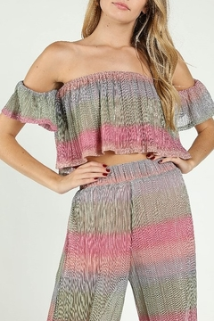 Wild Honey Shimmer OTS Crop Top - Product List Image