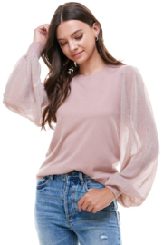 On Twelfth Shimmer Sleeve Sweater - Product Mini Image