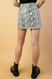 Pretty Little Things Shimmer Snakeskin Skirt - Front full body