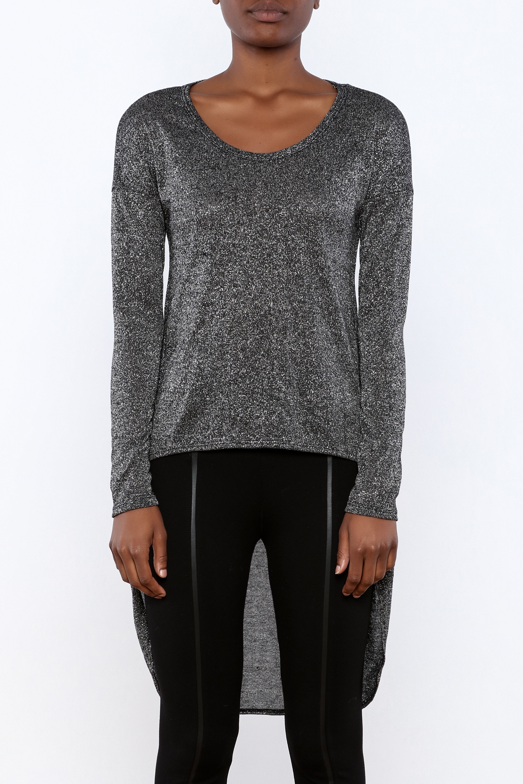 ING Shimmer Sweater - Side Cropped Image