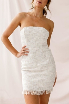 Shoptiques Product: Shimmer-Tweed Strapless Mini-Dress