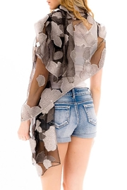 Nadya's Closet Shimmered Roses Scarf - Back cropped