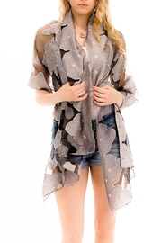 Nadya's Closet Shimmered Roses Scarf - Front cropped