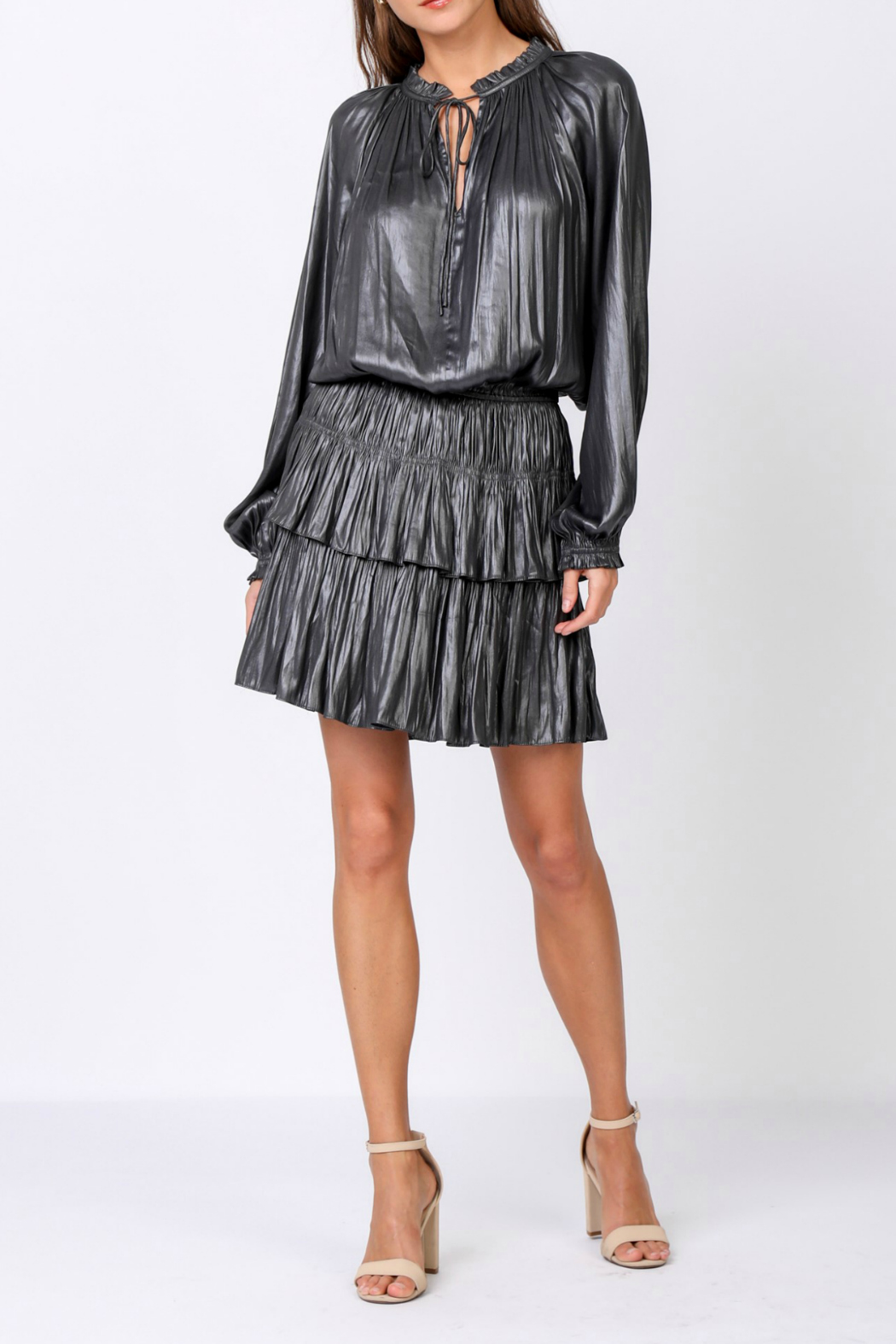 Current Air Shimmering mini dress with pleated skirt - Main Image