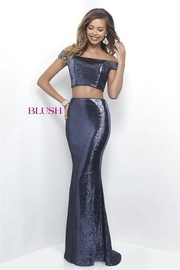 Blush Shimmering Two Piece Gown - Product Mini Image