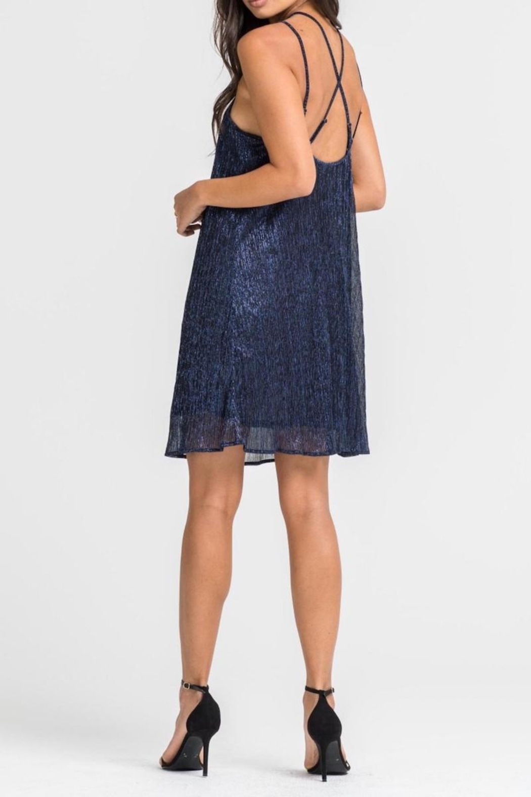 Lush Clothing  Shimmery Cocktail Dress - Front Full Image