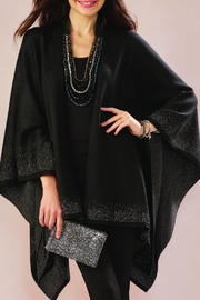 Charlie Paige Shimmery Lurex Cape - Product Mini Image
