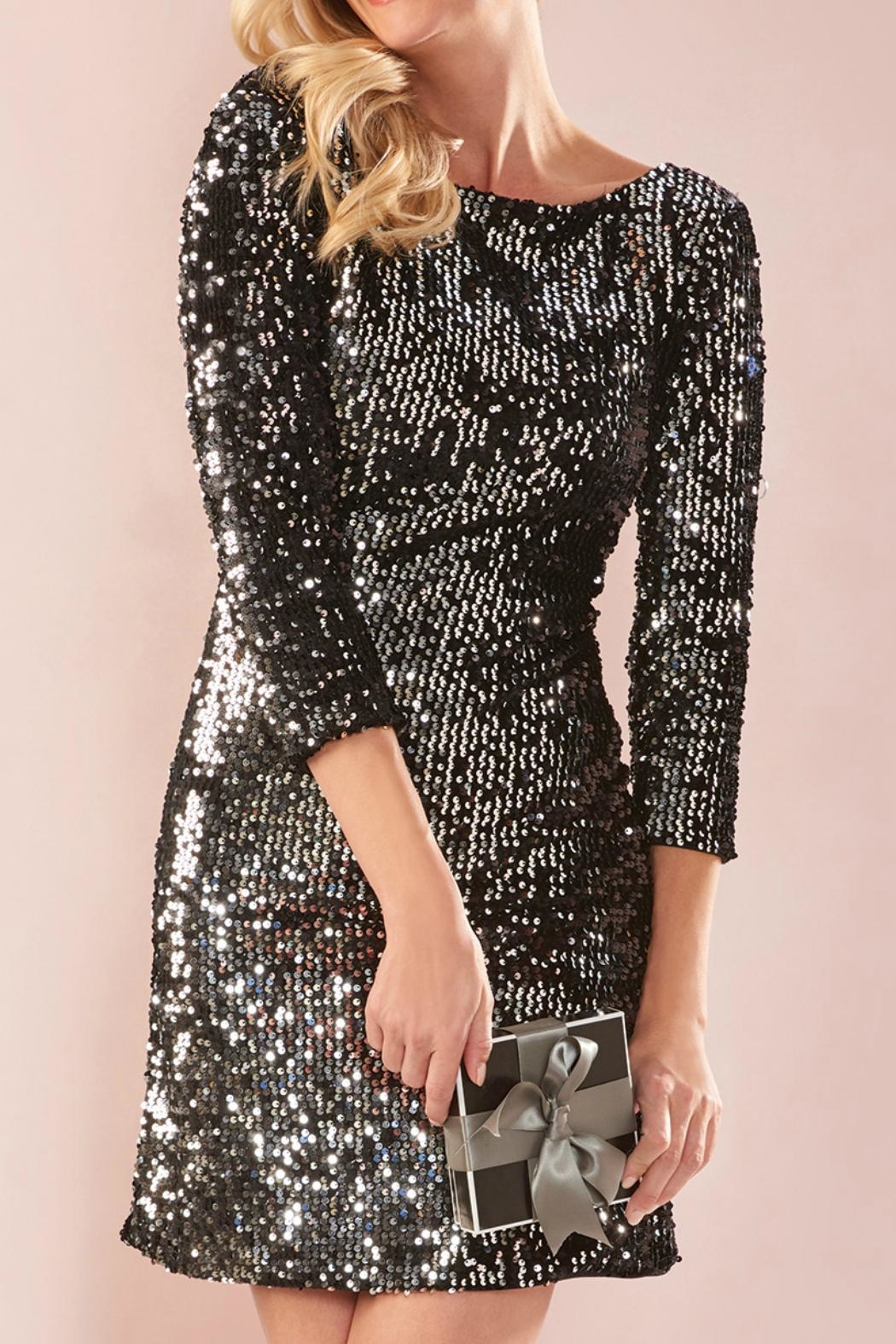 Charlie Paige Shimmery Sequin Dress - Main Image