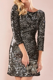 Charlie Paige Shimmery Sequin Dress - Front cropped