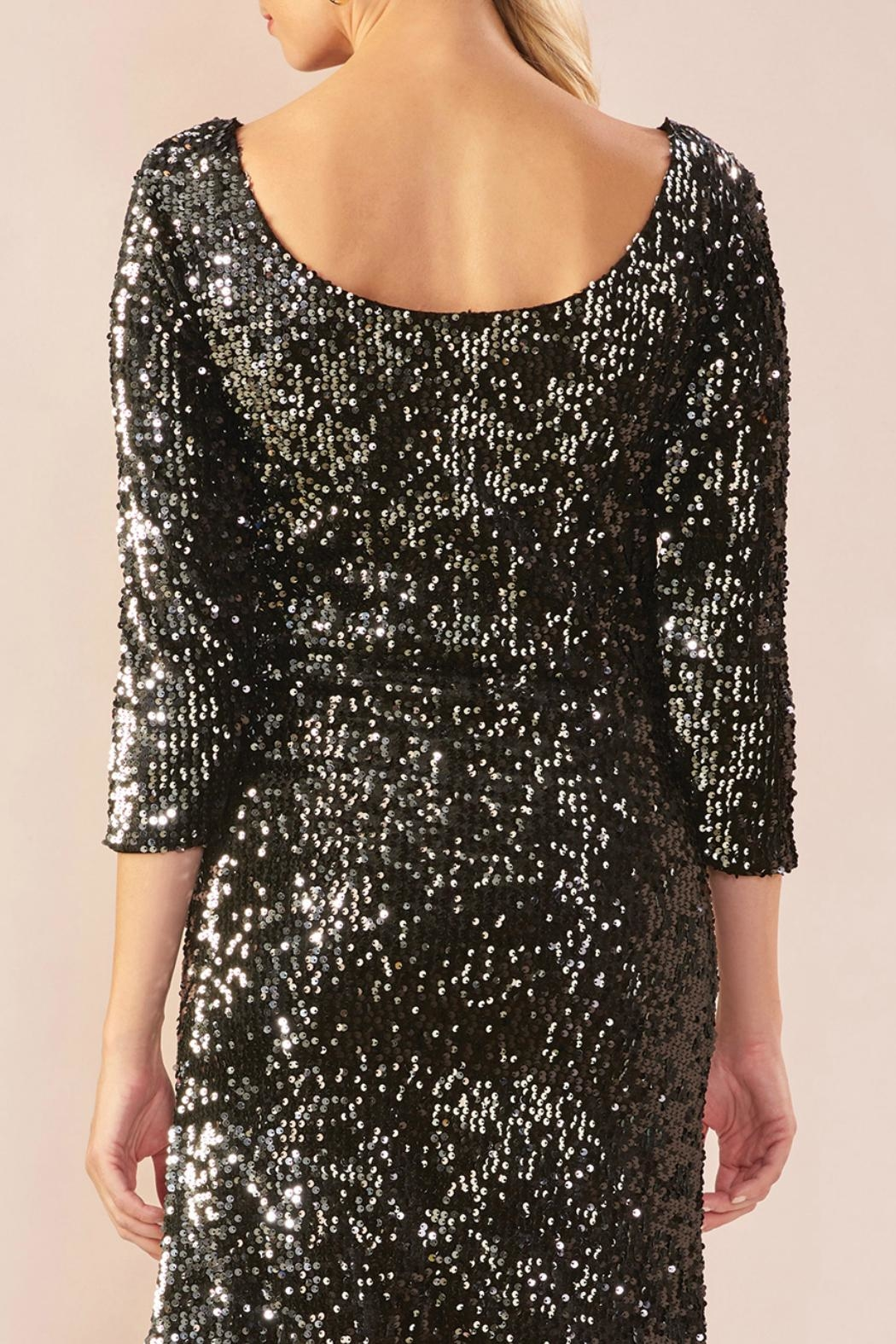 Charlie Paige Shimmery Sequin Dress - Front Full Image