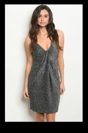 LoveRiche Shimmery Sliver Dress - Product Mini Image