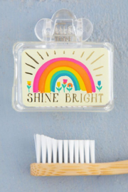 Natural Life Shine Bright Rainbow Tooth Brush Cover - Product Mini Image