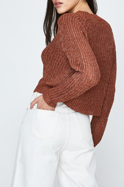 MinkPink Shine On Lurex Sweater - Front full body