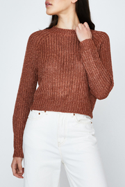 MinkPink Shine On Lurex Sweater - Front cropped