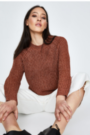 MinkPink Shine On Lurex Sweater - Back cropped