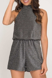 She + Sky Shine On Romper - Front cropped