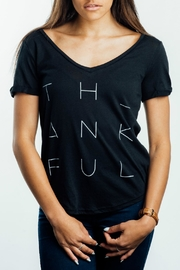 Shine the Light On Thankful Print Shirt - Product Mini Image