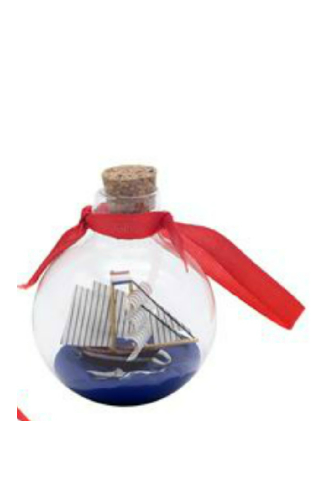 DEI SHIP IN A BOTTLE ORNAMENT - Front Cropped Image