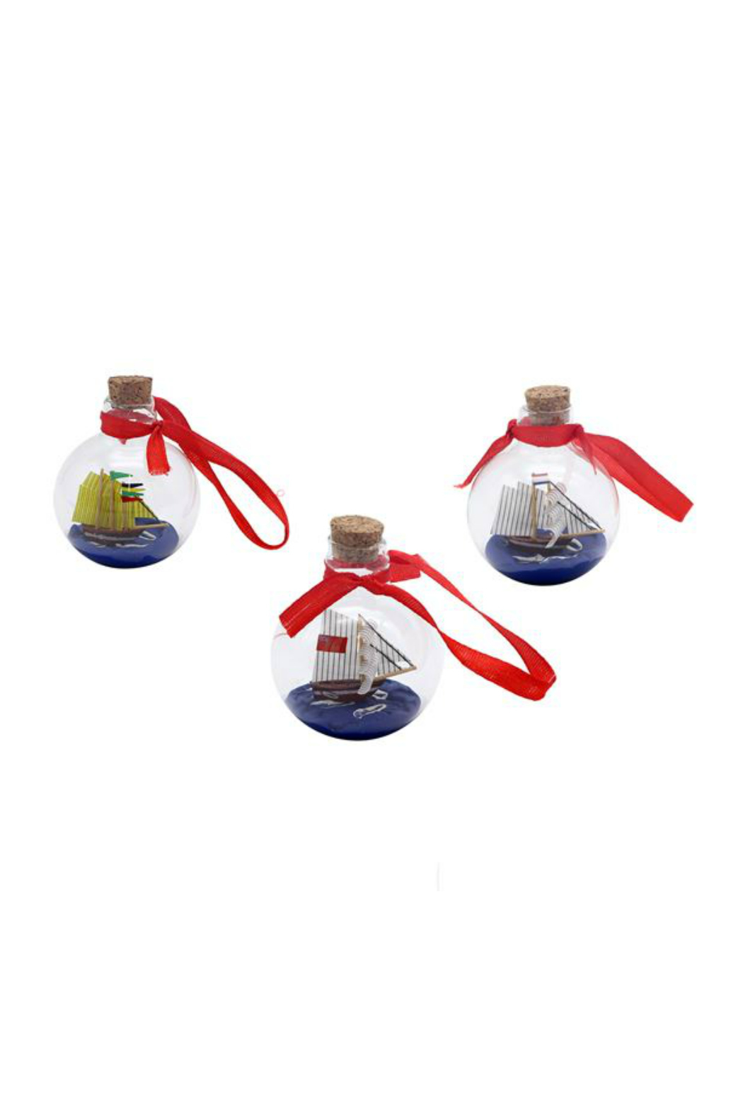 DEI SHIP IN A BOTTLE ORNAMENT - Back Cropped Image