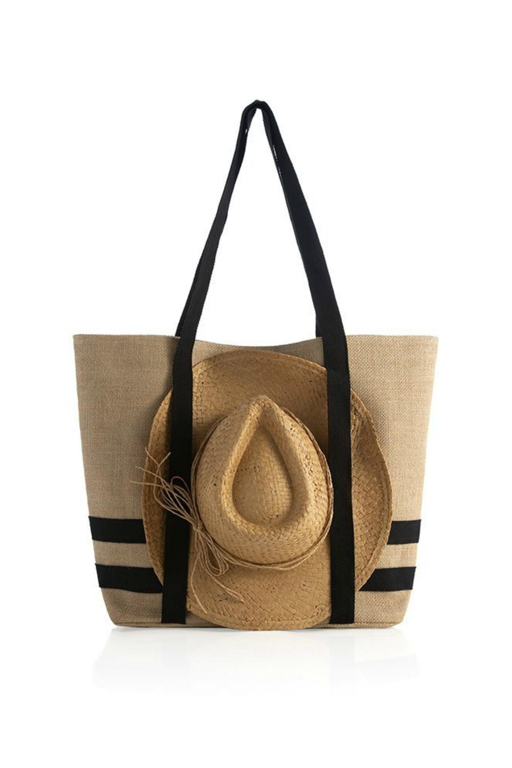 Shiraleah Beach Tote With Hat - Main Image
