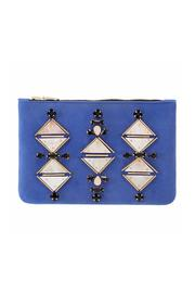 Shiraleah Blue Suede Clutch - Product Mini Image