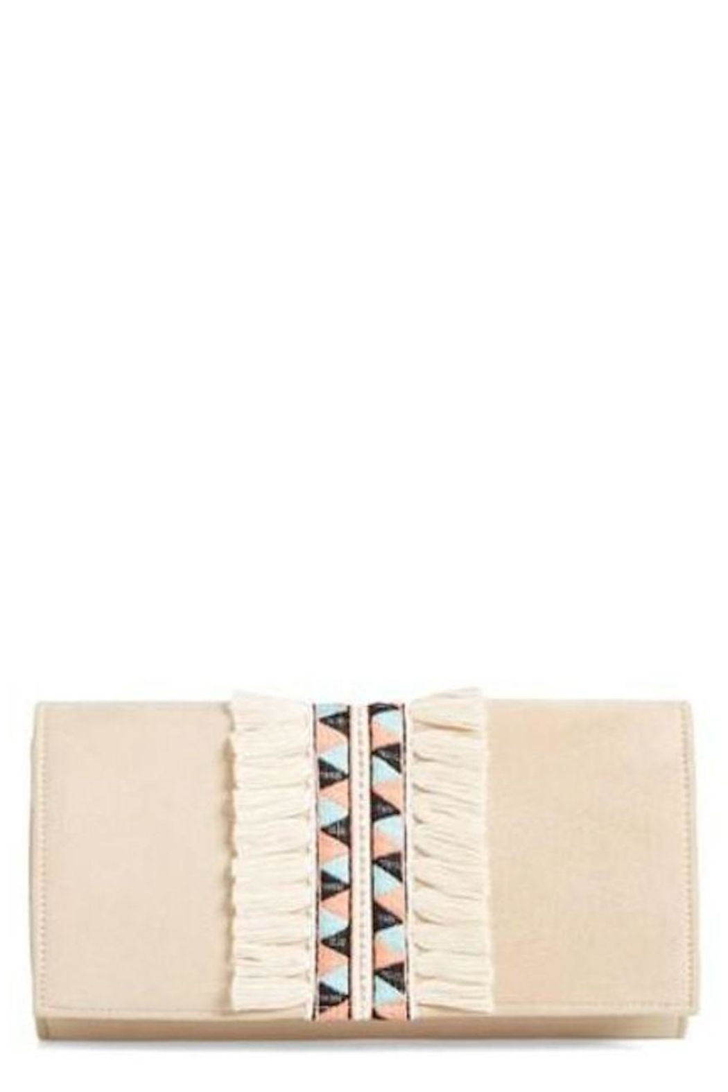 Shiraleah Emroirederd & Fringed Clutch - Front Cropped Image
