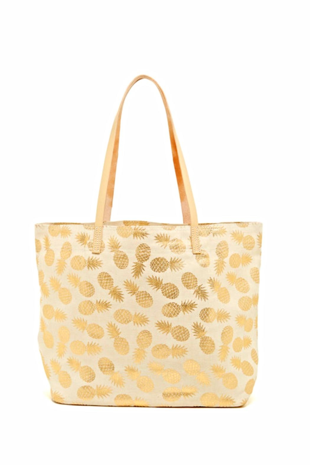Shiraleah Gold Pineapple Tote - Front Cropped Image