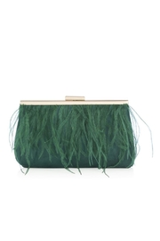 Shiraleah Green Feather Clutch - Front full body