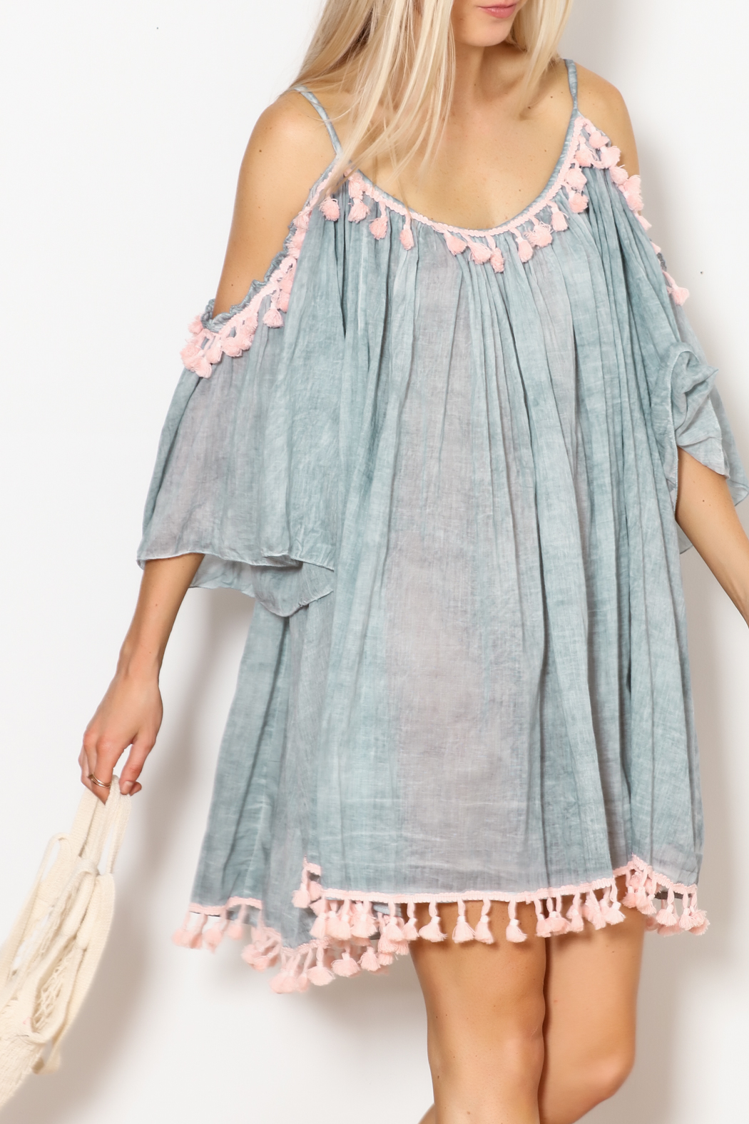 Shiraleah Heloise Tassel Cover-Up - Front Full Image
