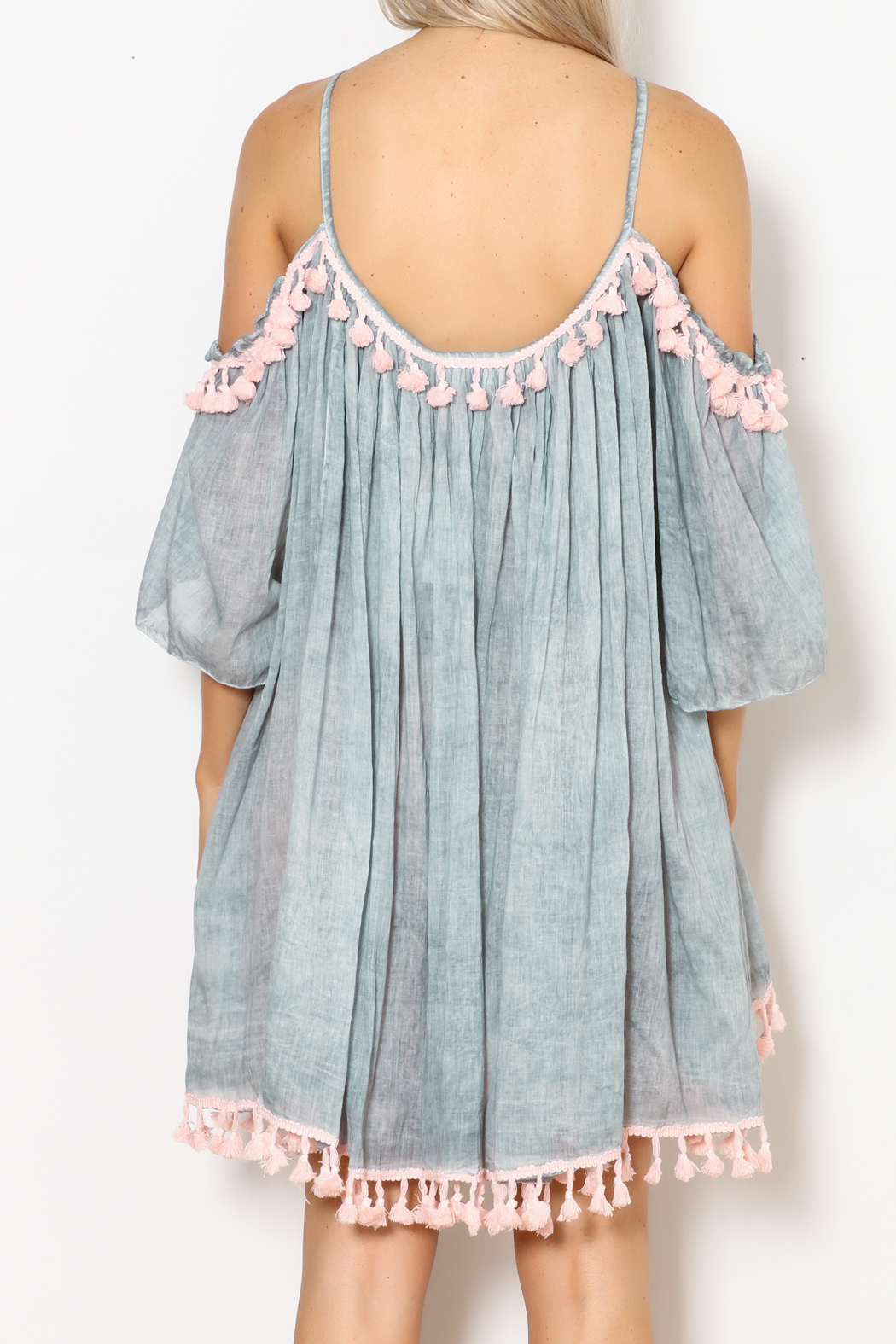 Shiraleah Heloise Tassel Cover-Up - Back Cropped Image