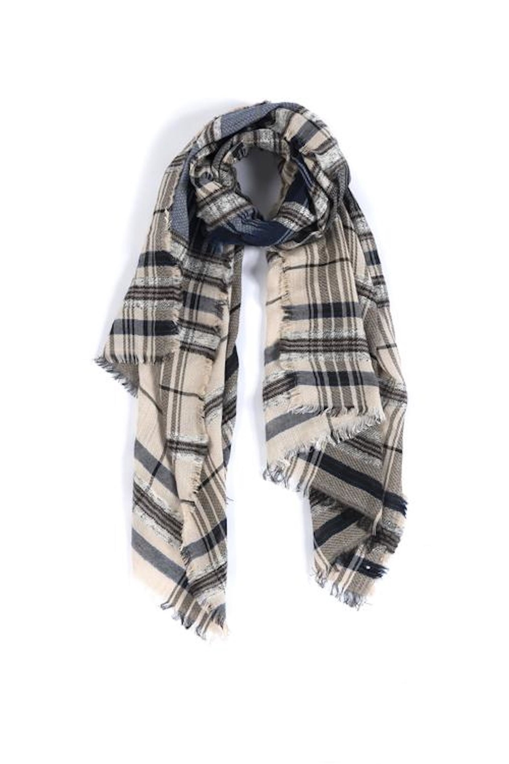 Shiraleah Nicola Plaid Scarf - Main Image