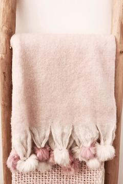 Shoptiques Product: Pink Pompom Throw