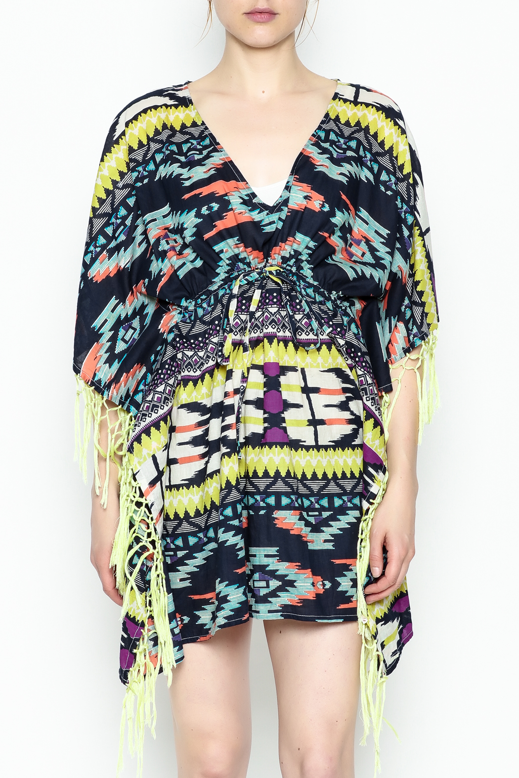 Shiraleah Rowlie Kaftan Cover Up - Front Full Image