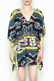 Shiraleah Rowlie Kaftan Cover Up - Front full body