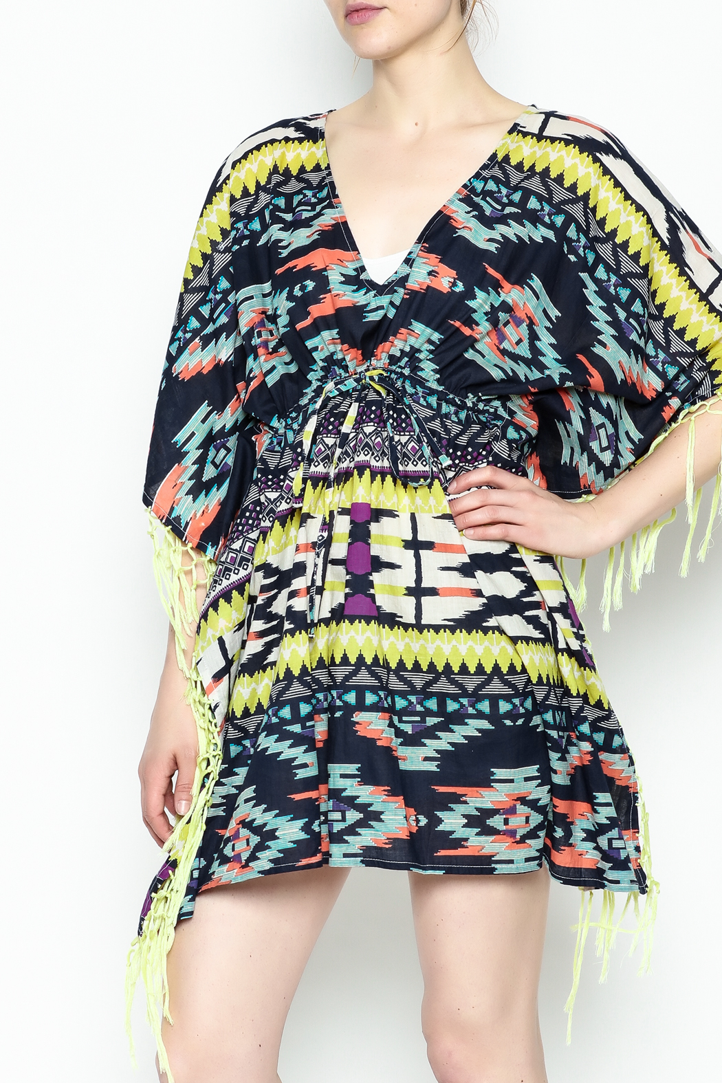 Shiraleah Rowlie Kaftan Cover Up - Main Image