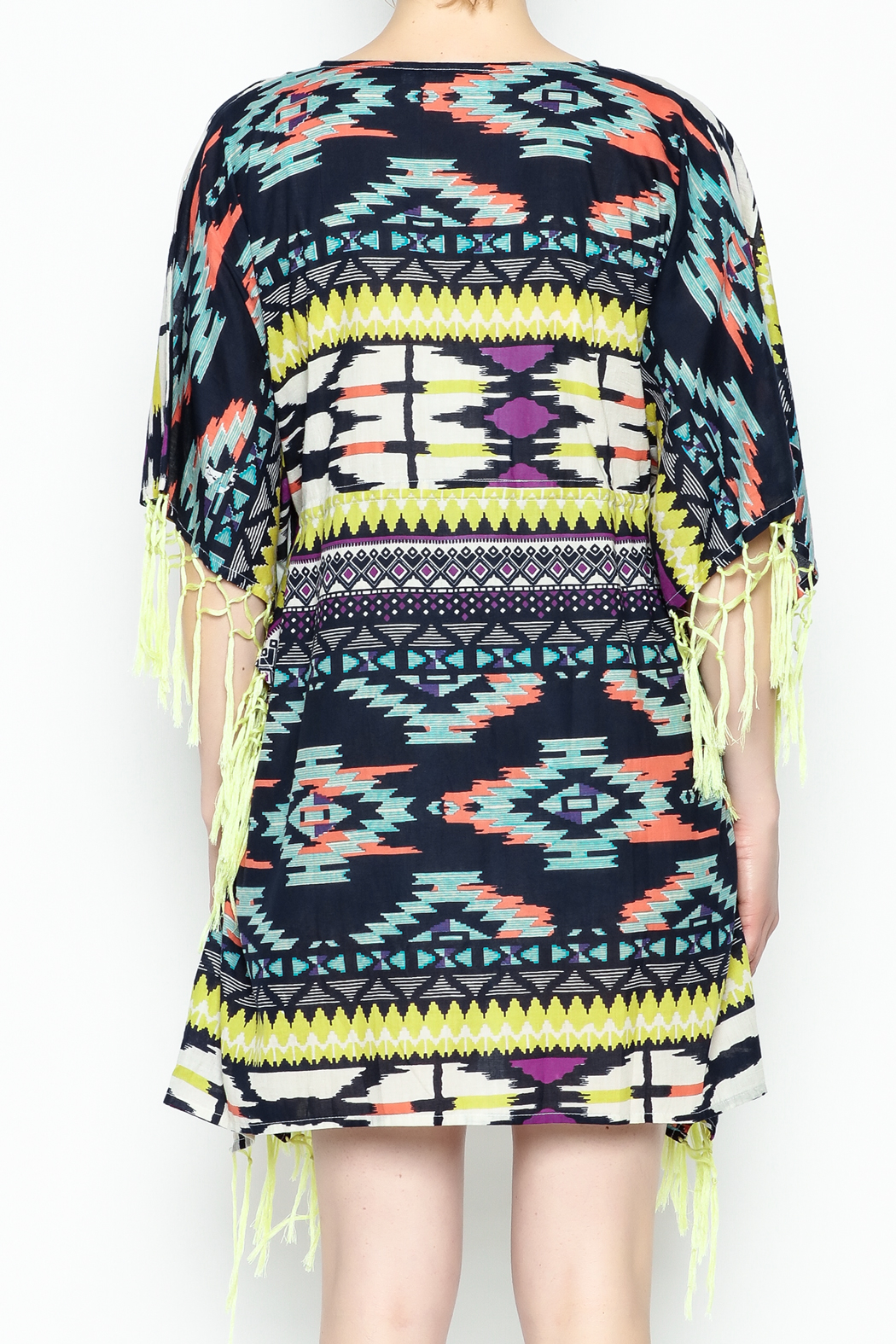 Shiraleah Rowlie Kaftan Cover Up - Back Cropped Image