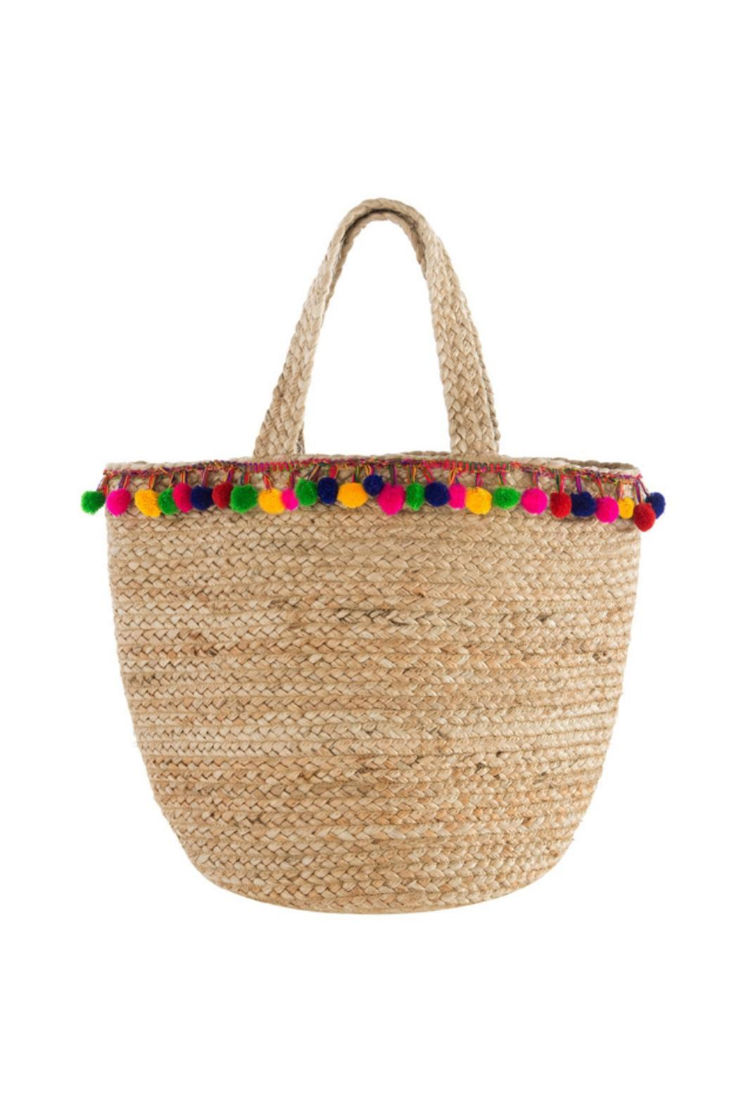 fe7b87d7c841 Shiraleah Santana Pompom Tote from New York by Let s Bag It — Shoptiques