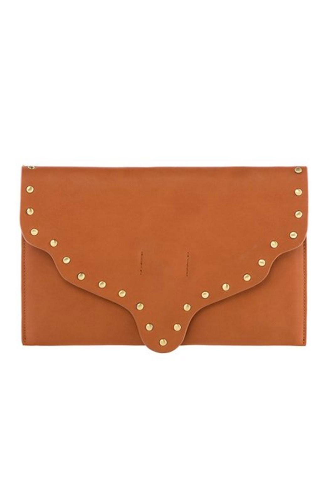 Shiraleah Scalloped Leather Clutch - Main Image